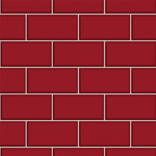 Subway Tile Red Wallsorts
