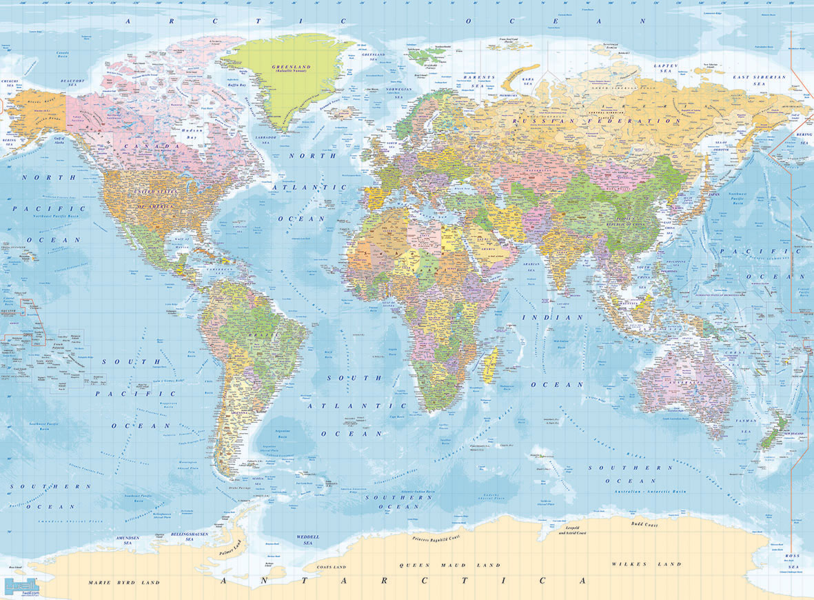 Wall Mural – World Map Large