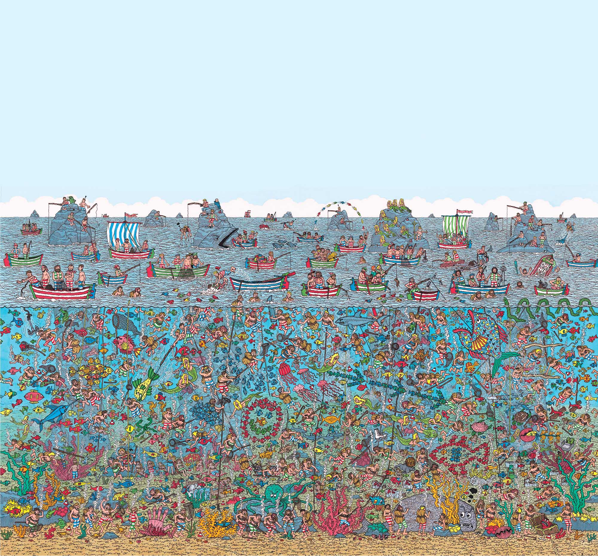 Wallpaper Mural – Where's Wally Deep Sea
