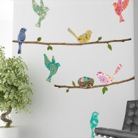 Wall Decal – Paisley Birds & Branches