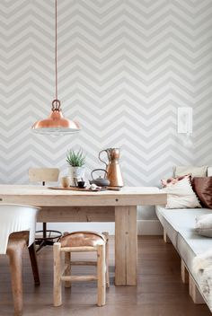 Chevron Grey/White