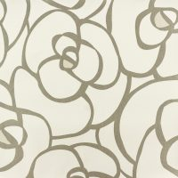 Retro Flower – Grey/White