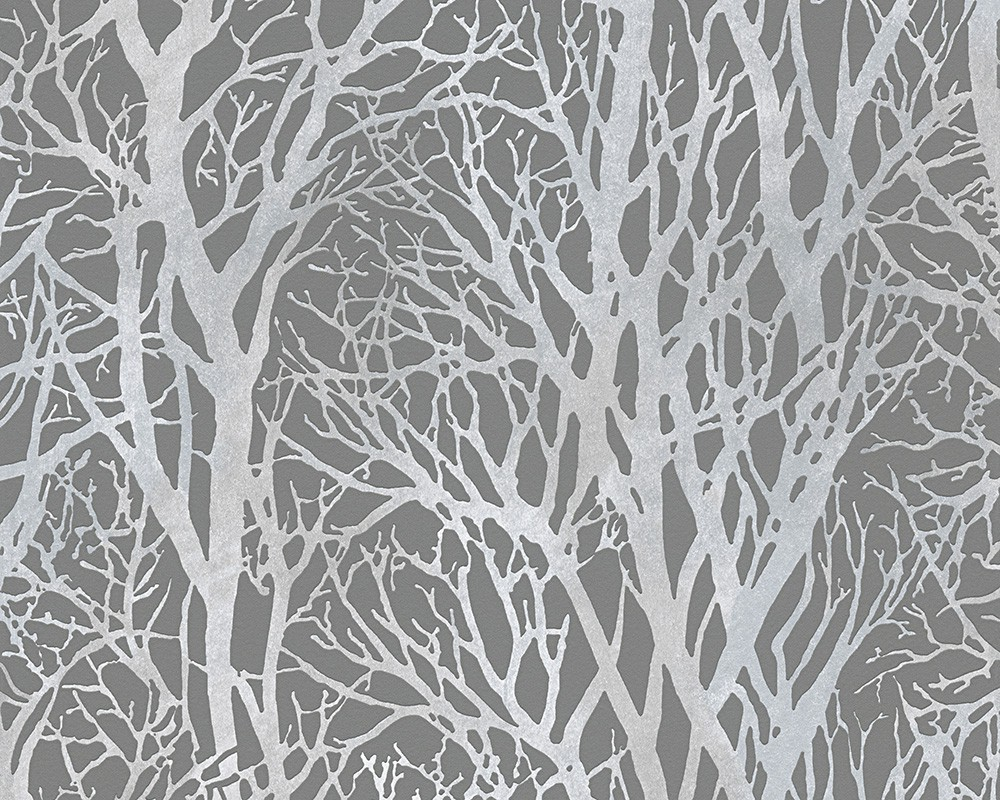 Woodland grey wallsorts for Gray vinyl wallpaper